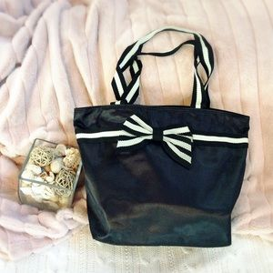 Handbags - Large Black Tote with Bow